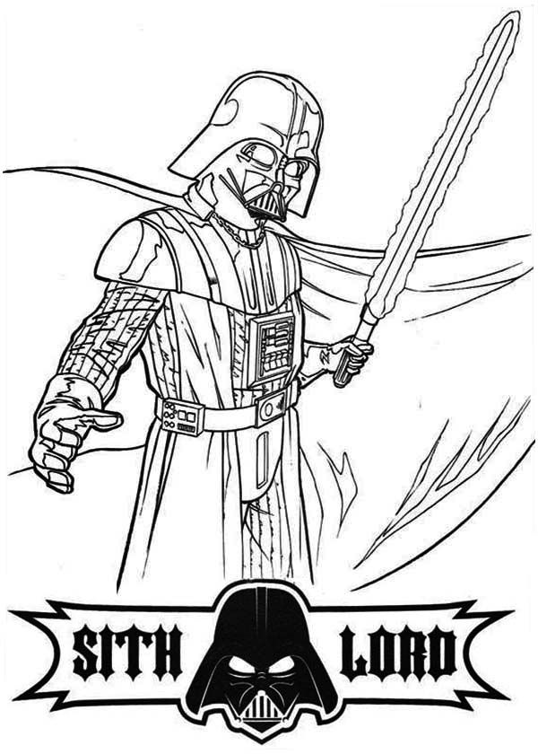 Coloring Pages Darth Vader - Coloring Home