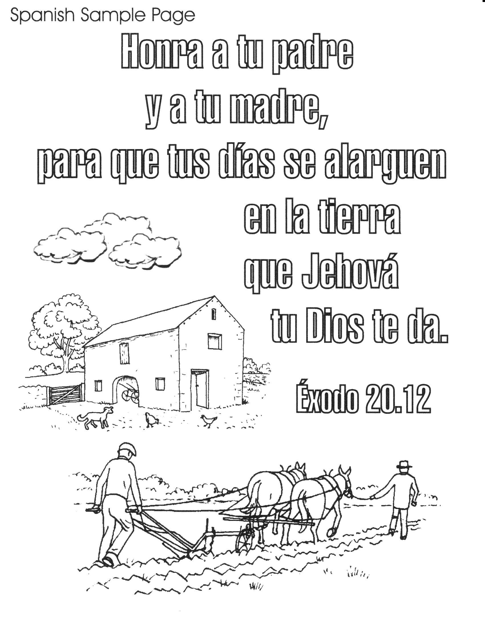 - Spanish Gospel Coloring Page - Coloring Home