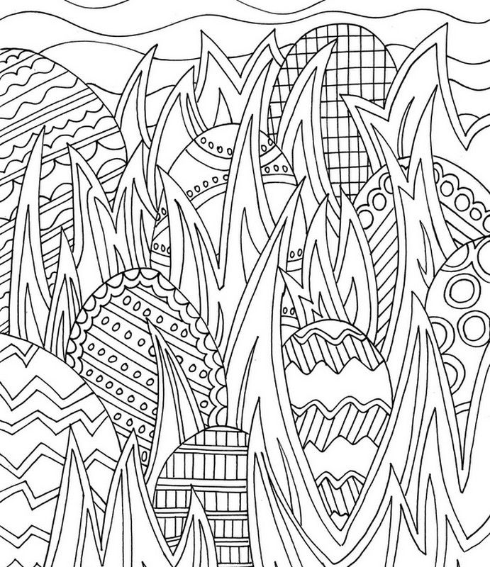 Adult Coloring Pages Easter