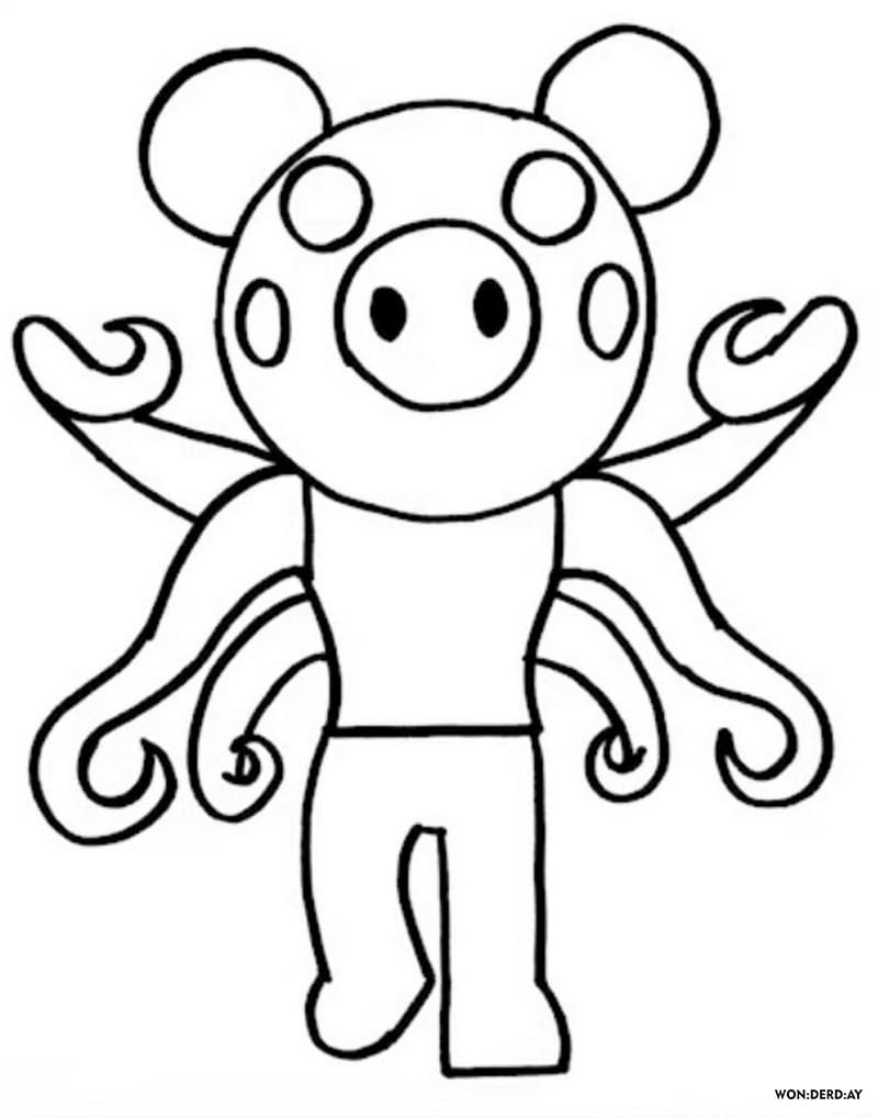 Piggy Roblox Coloring Pages - Coloring Home