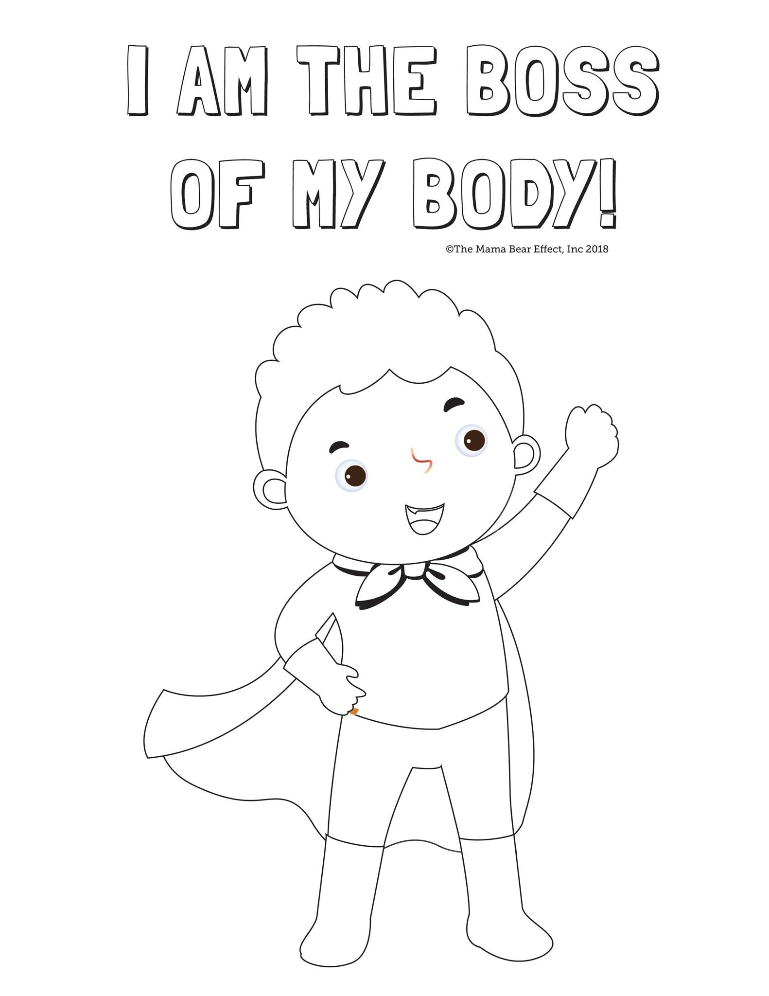 My Body Coloring Pages Coloring Home