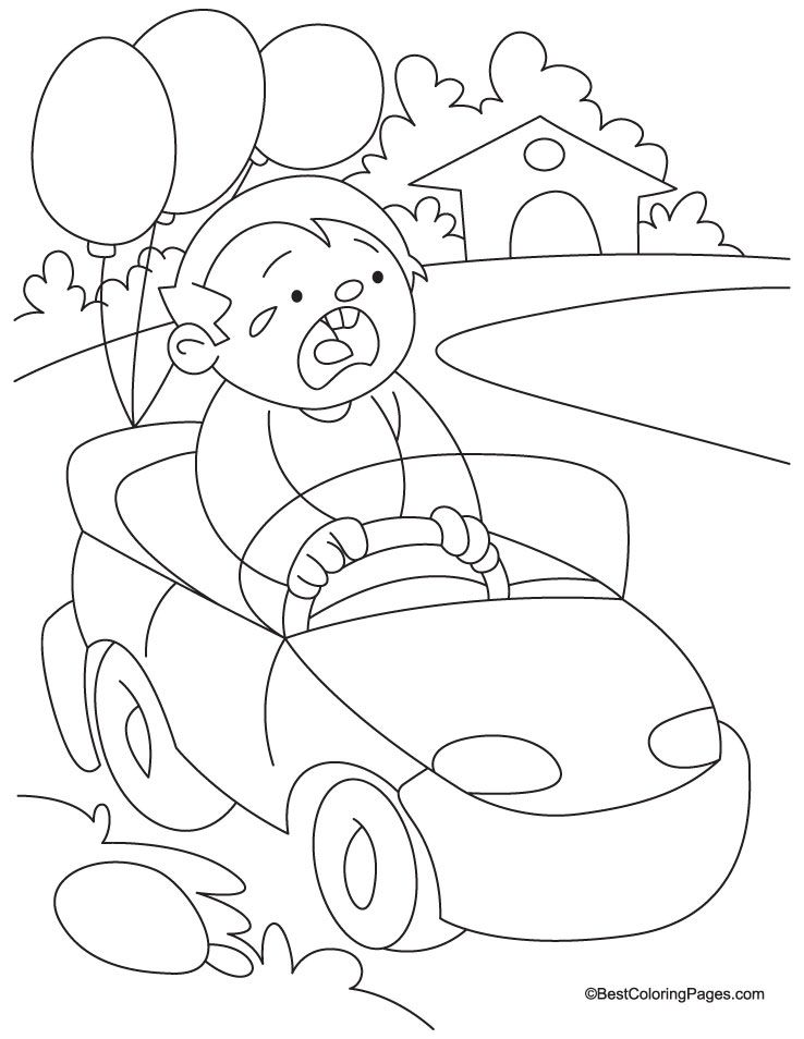 Toy Car Coloring Page - Coloring Home
