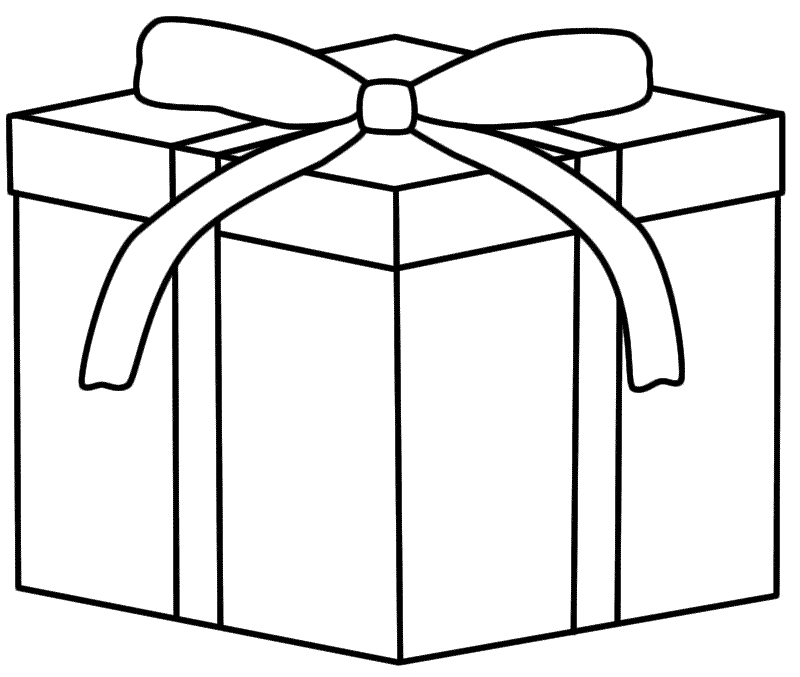Christmas gift coloring page coloring home christmas gift coloring page negle Choice Image
