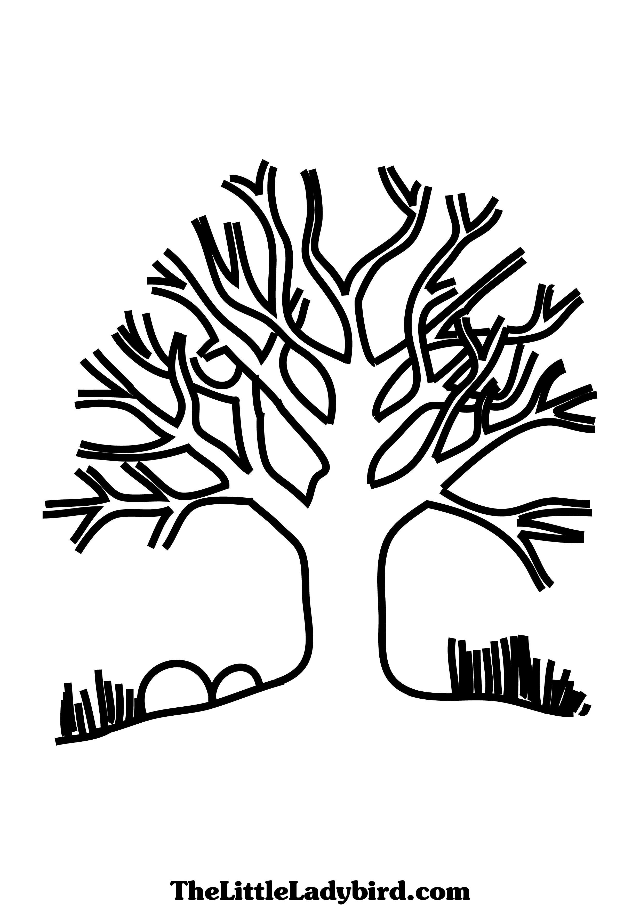 Trees And Leaves Coloring Pages - Coloring Home