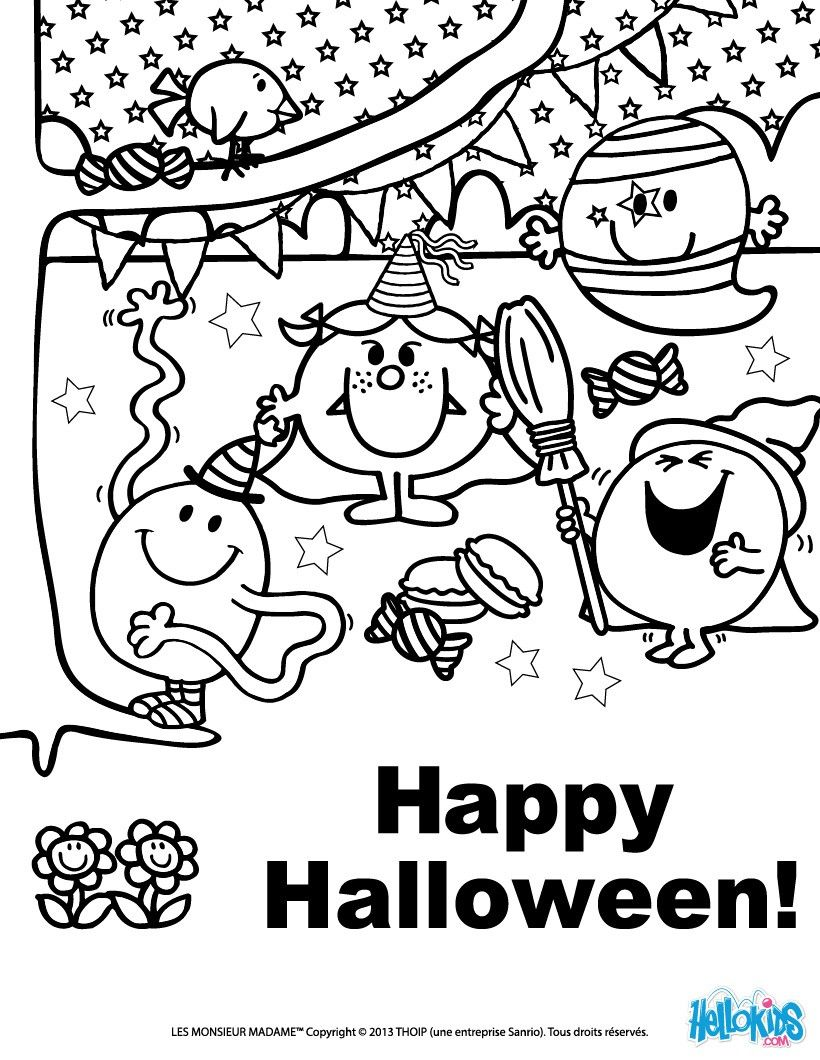 mr men little miss coloring pages | Mr MEN And LITTLE MISS Coloring Pages : 32 Printables To ...