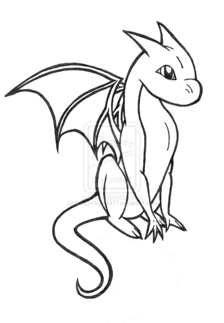 Line Art Year 2 : Baby dragon coloring pages home