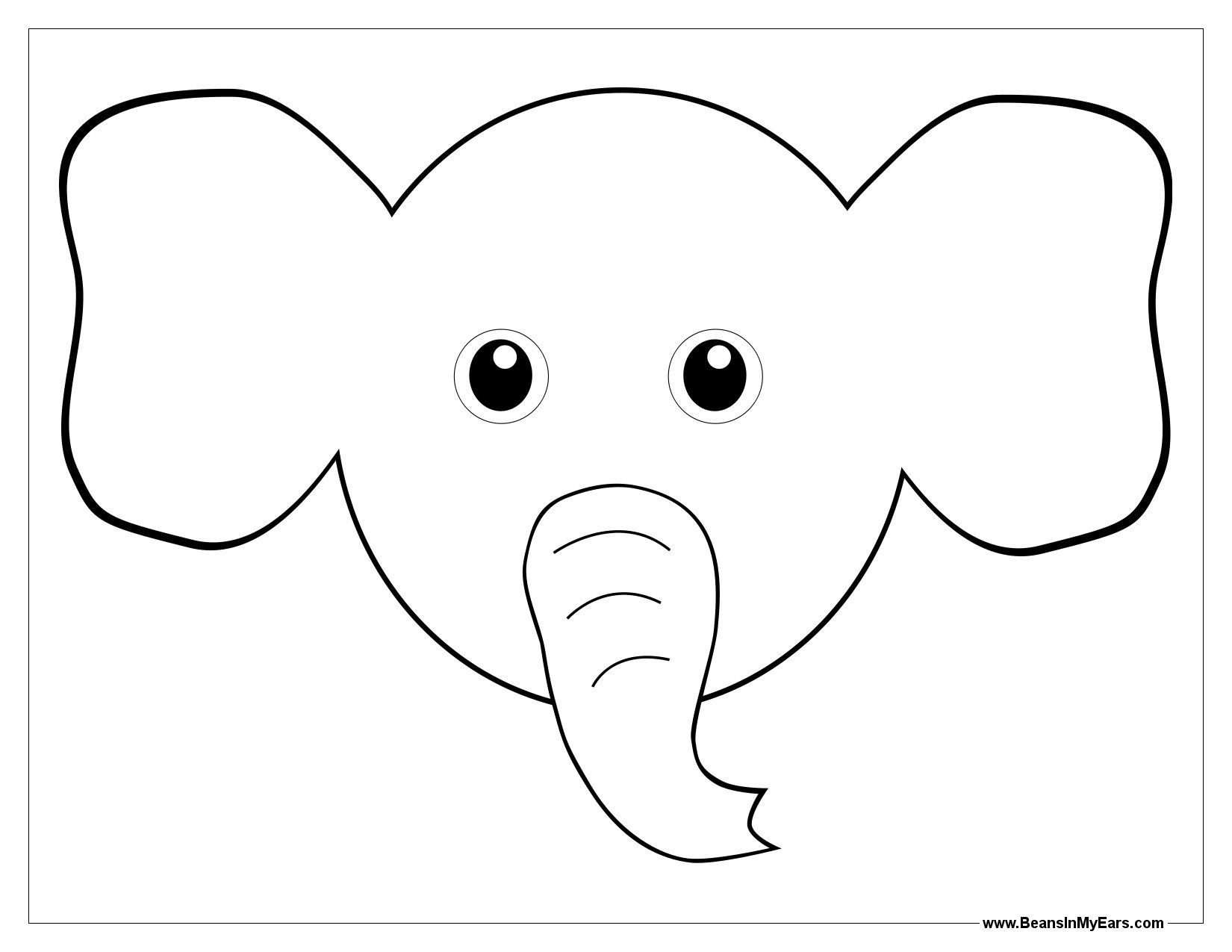 Ears Coloring Pages