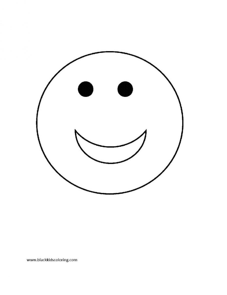 Free Smiley Face Coloring Pages