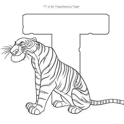 disney family coloring pages - t is for tiger coloring page disney family coloring home