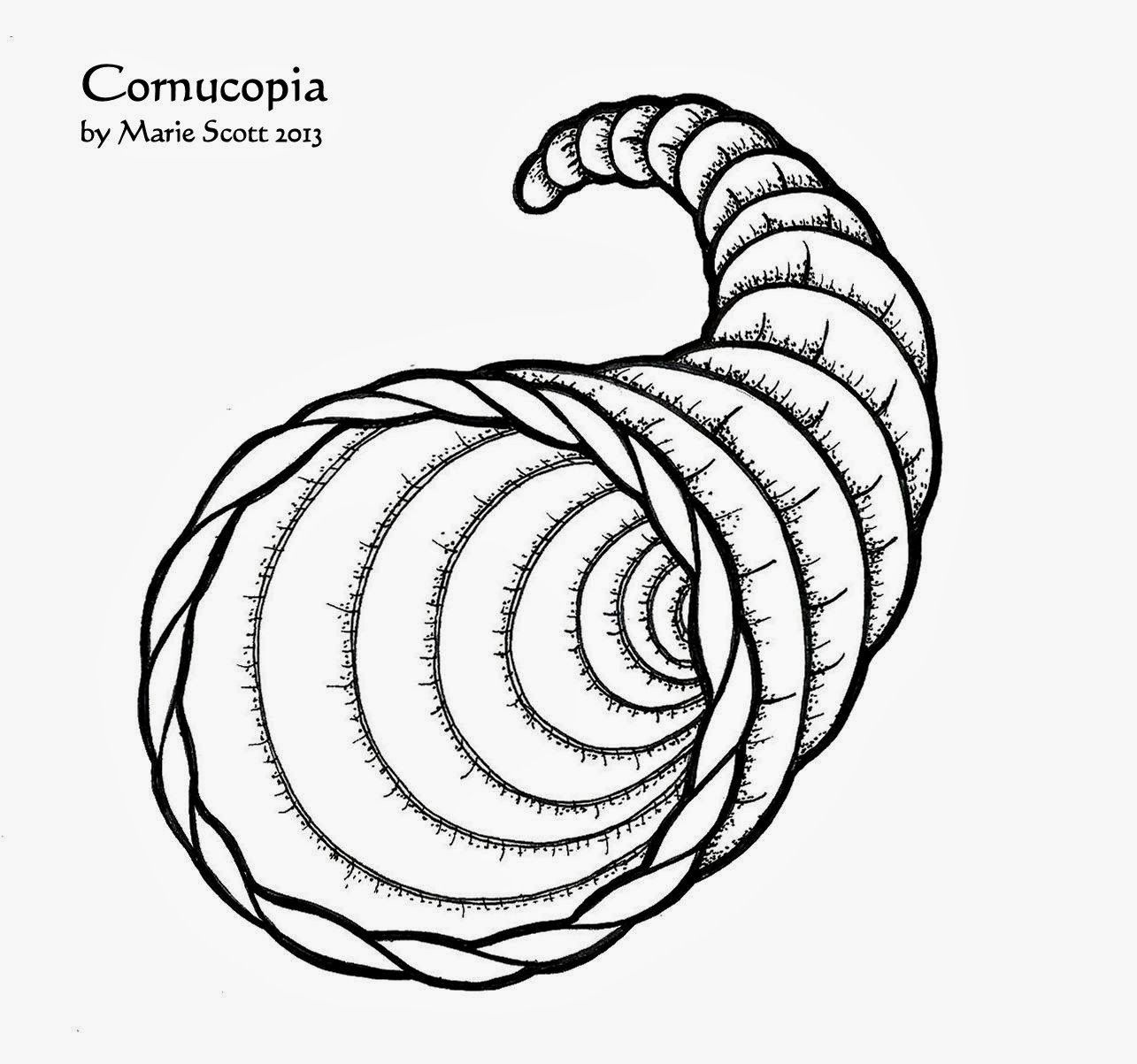 Coloring Pages Cornucopia Printable Coloring Pages cornucopia coloring page az pages empty template sheet twig