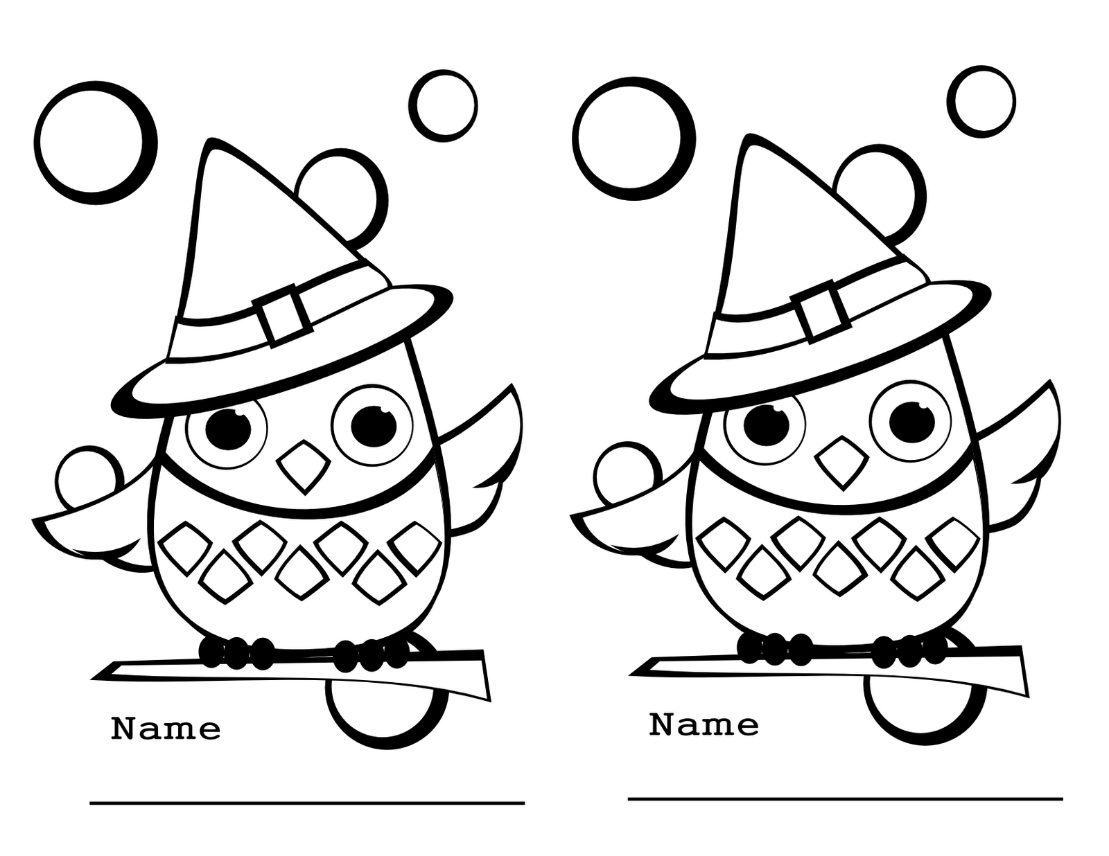 coloring pages of cute owls - photo#22