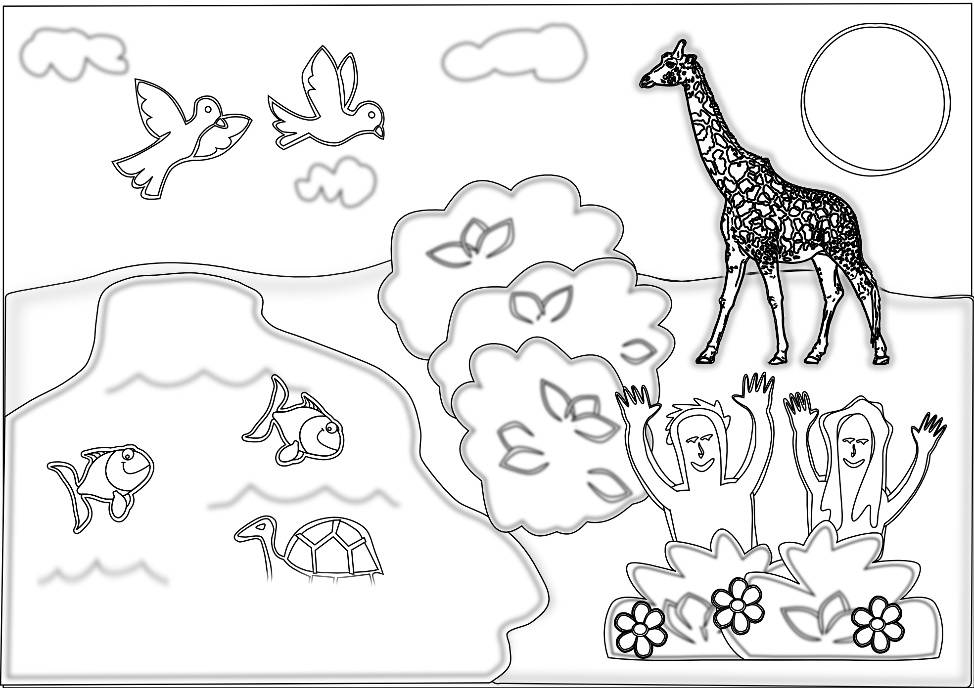 Creation Coloring Pages Booklet Creation Color Page Creation ...