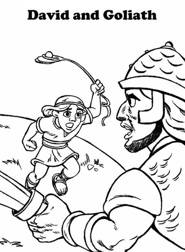 Free printable coloring pages david and goliath coloring for David and goliath coloring pages for preschoolers