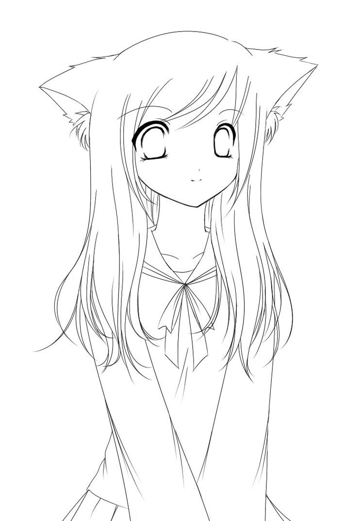 Anime Fox Girl Cute Coloring Pages Coloring Home Anime Fox Coloring Pages