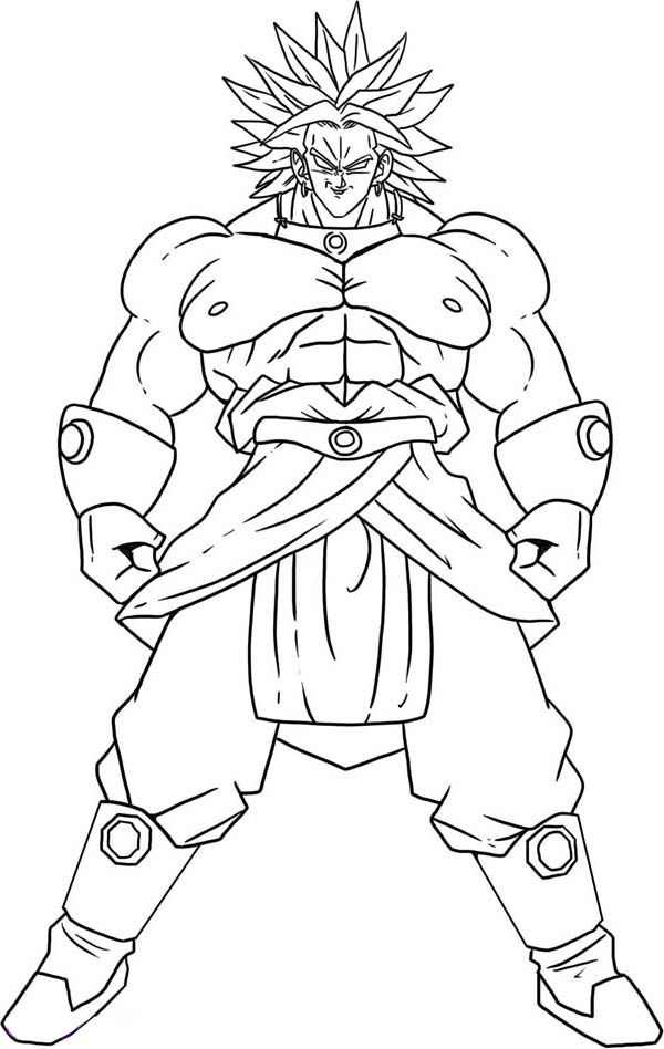 Dragon Ball Z Characters Coloring Pages Super Saiyan