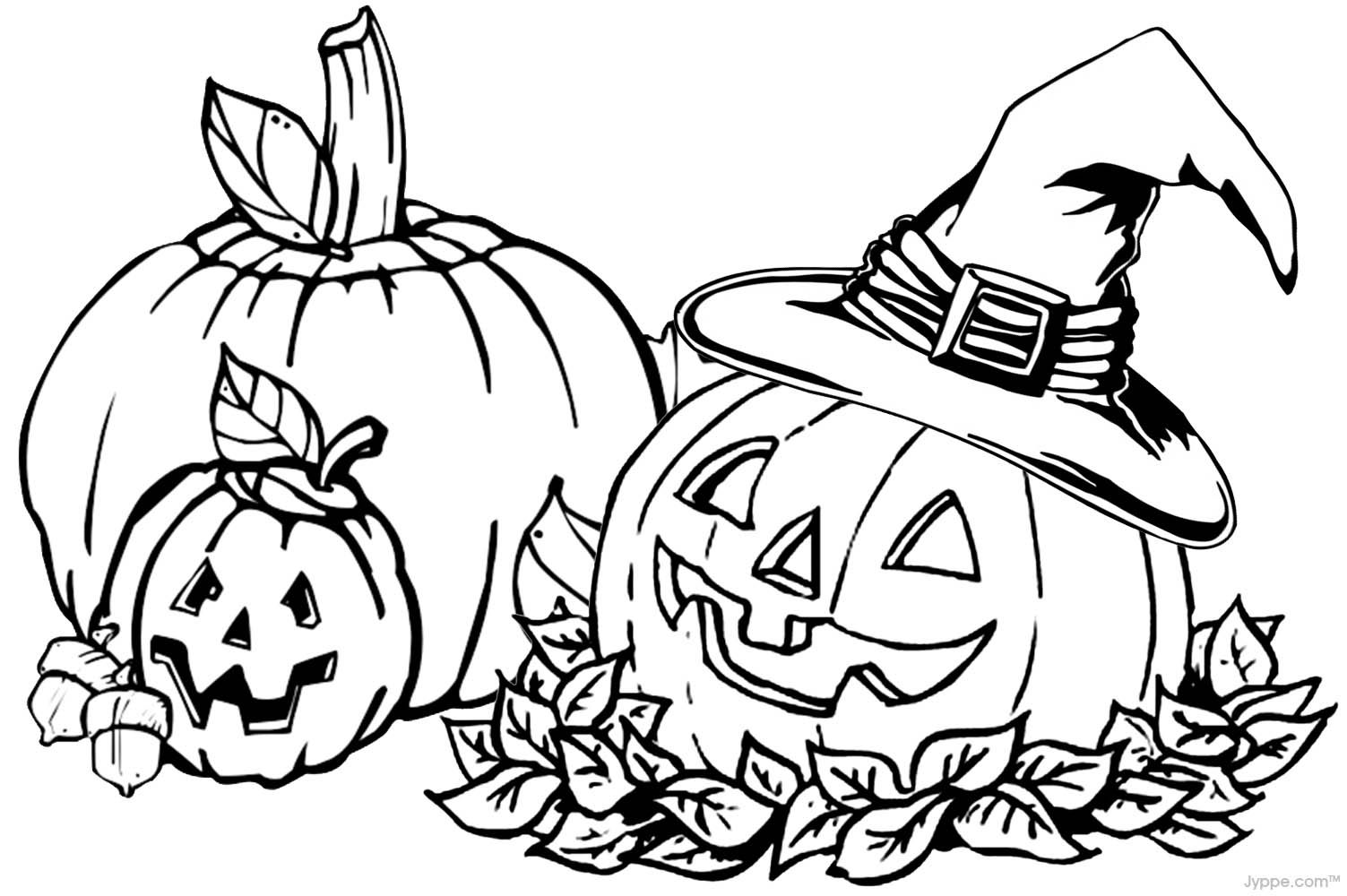 Printable Halloween Coloring Pages For Adults - Coloring Home
