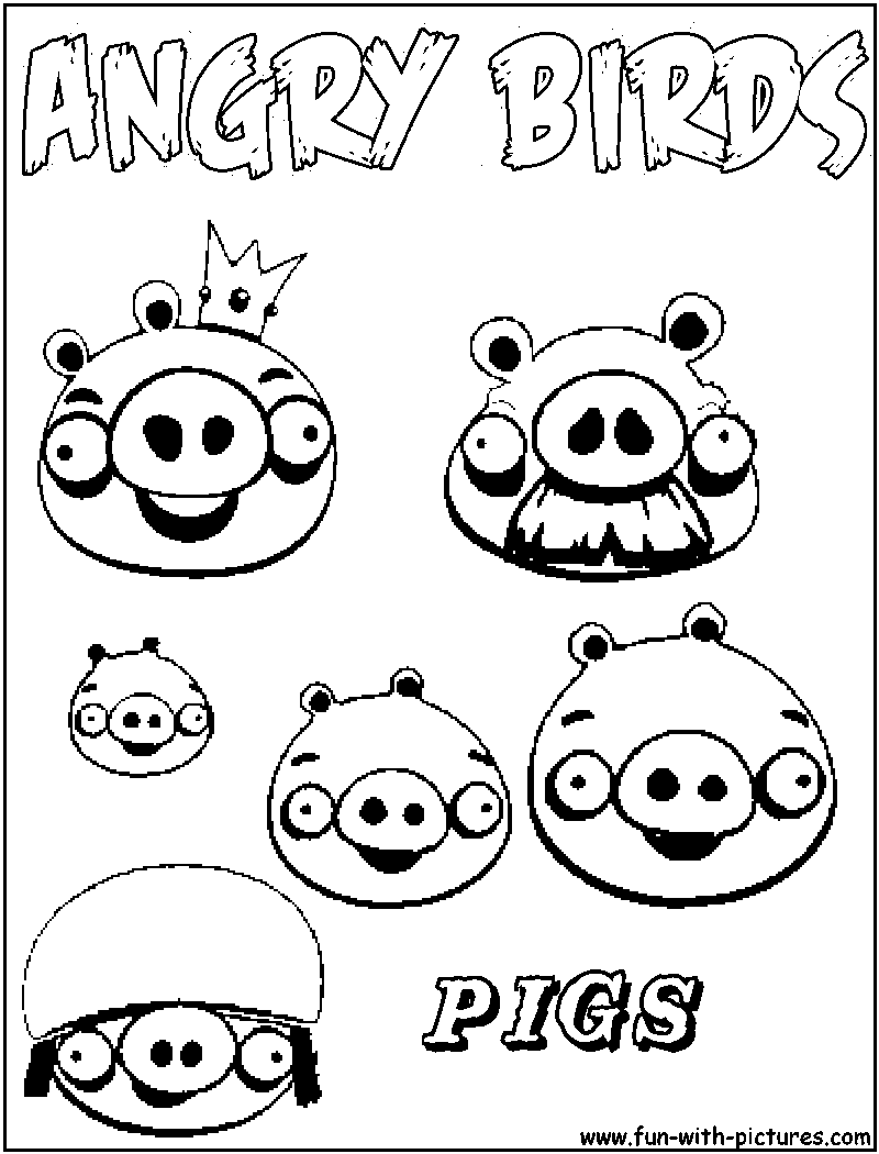 Color Angry Birds Space Pigs Coloring Pages - Coloring Home