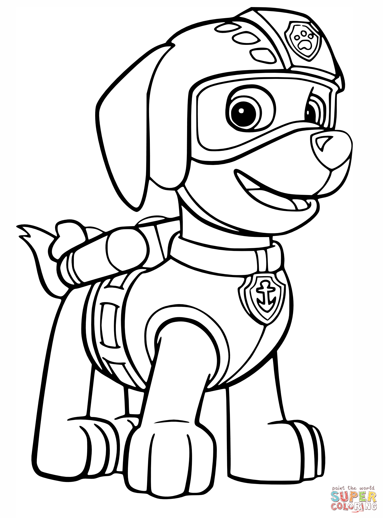 Paw Patrol Tundra Coloring Pages : Paw patrol coloring page home