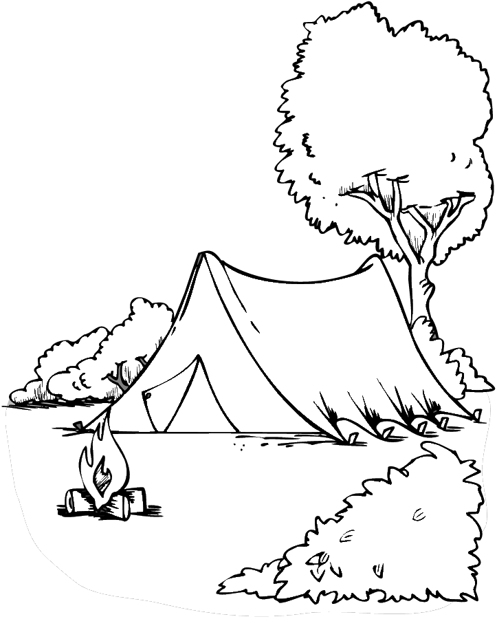 Camping Coloring page | Coloring pages to print | Color Printing ...