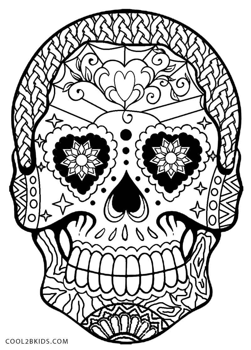 11 pics of day of the dead coloring pages dia de los muertos - Dia De Los Muertos Coloring Book
