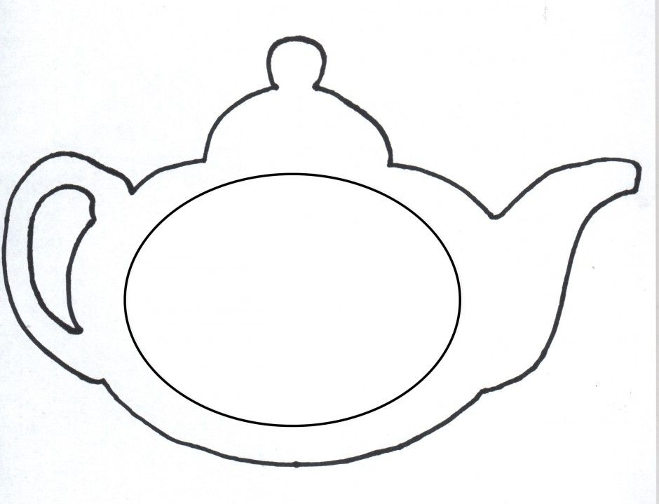 photograph relating to Teapot Printable identified as Printable Teapot Coloring Web pages - Coloring Household