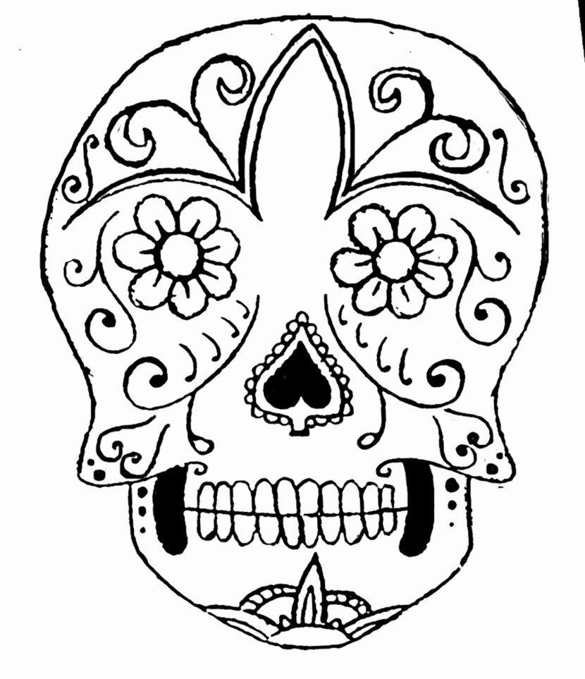 Easy sugar skull outline best home wallpaper