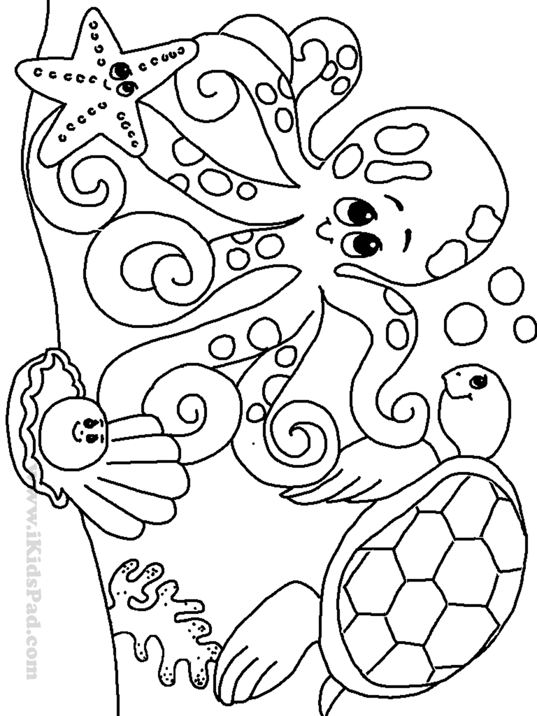Free Printable Underwater Coloring Pages High Quality Coloring