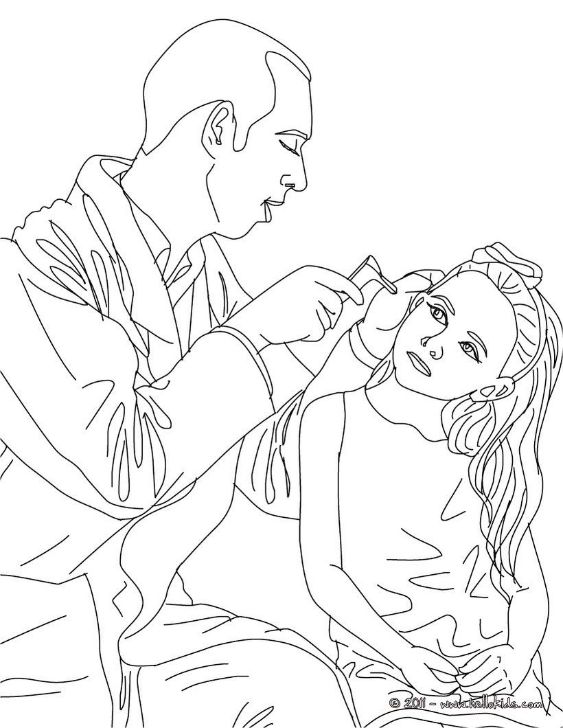 DOCTOR coloring pages - Paediatrician doctor