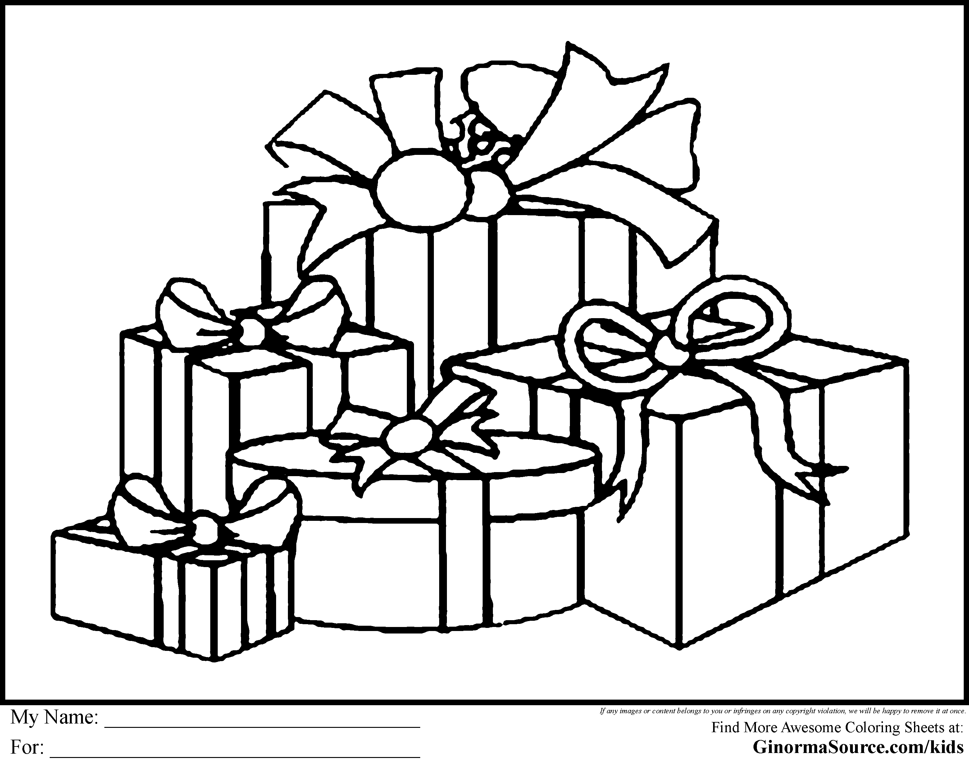 Christmas Present Coloring Pages Coloring Pages For All Ages Coloring Home