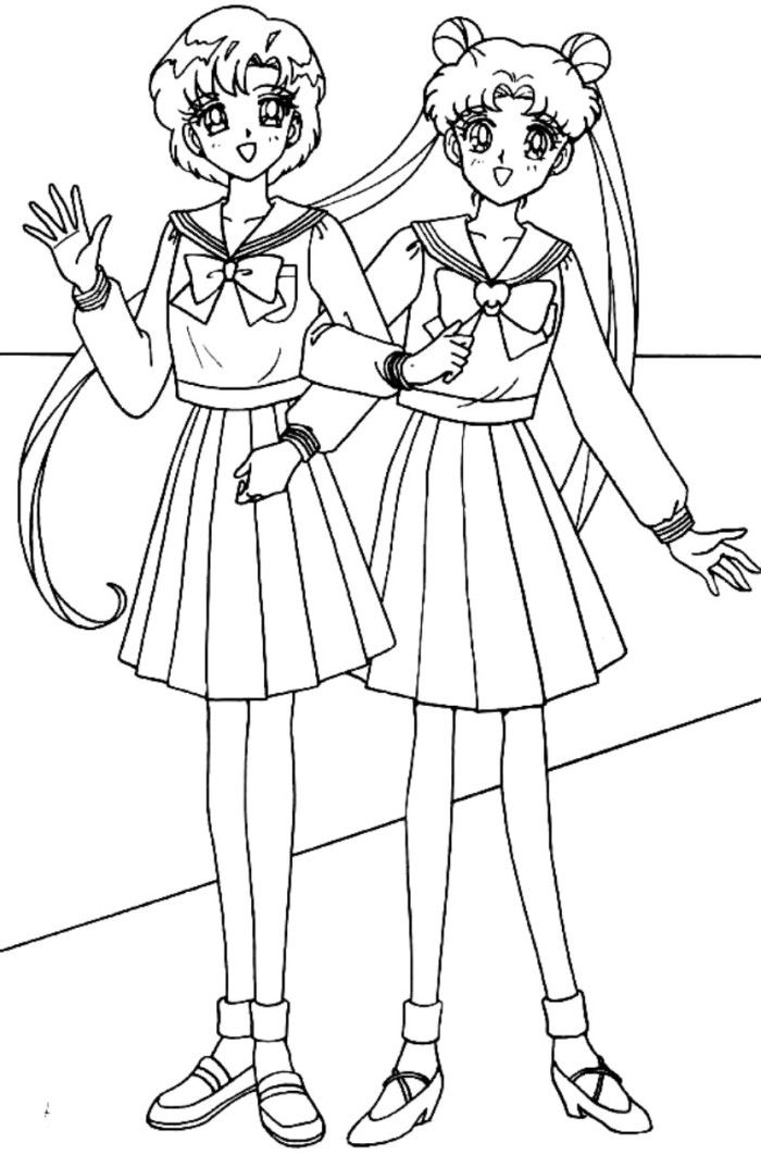 Usagi And Friend Sailormoon Coloring | advice for your Home Decoration