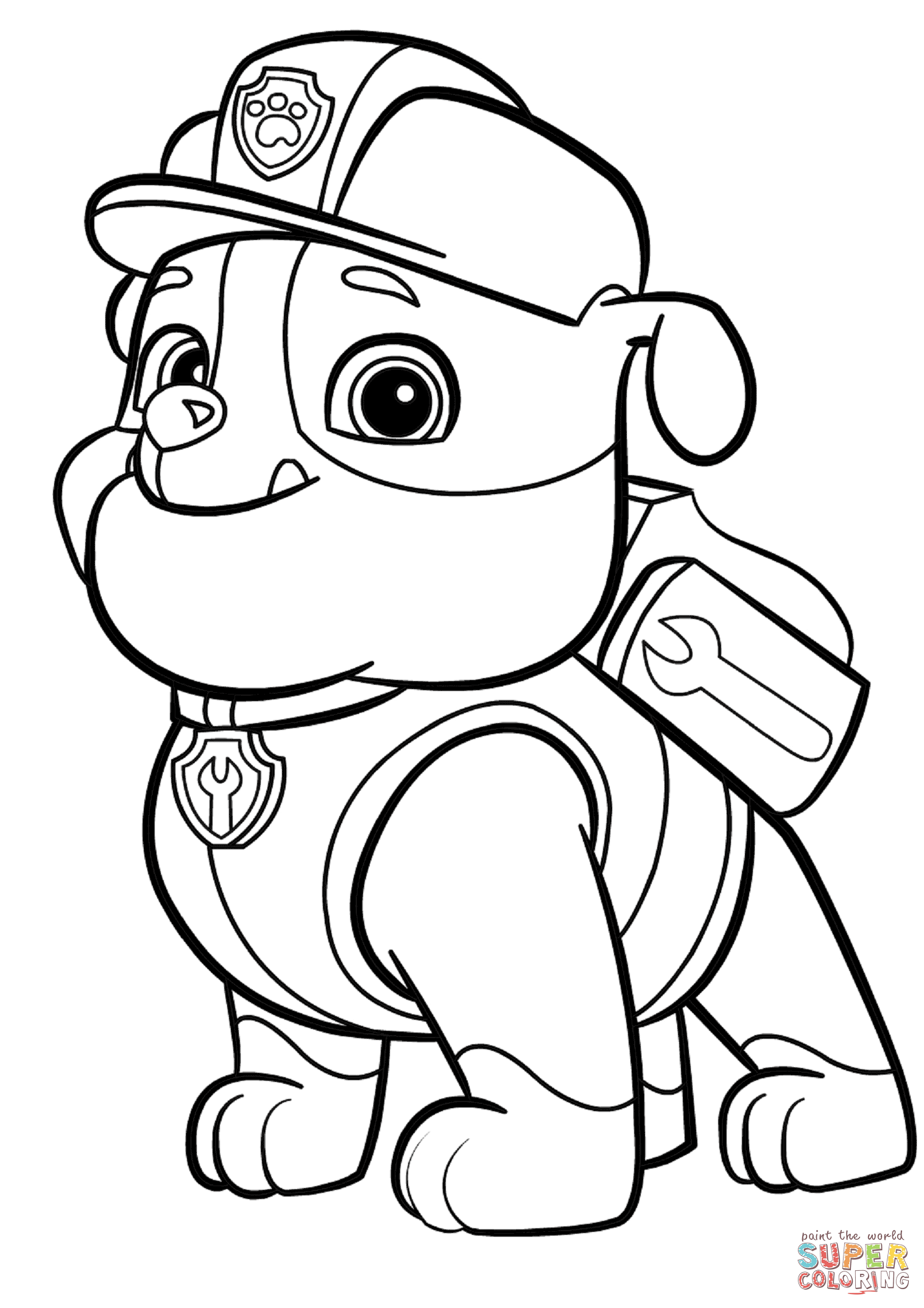 Coloring Pages Paw Patrol Rocky : Paw patrol rocky coloring pages home