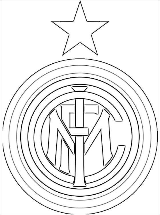Logo of Inter Milan football club | Coloring pages