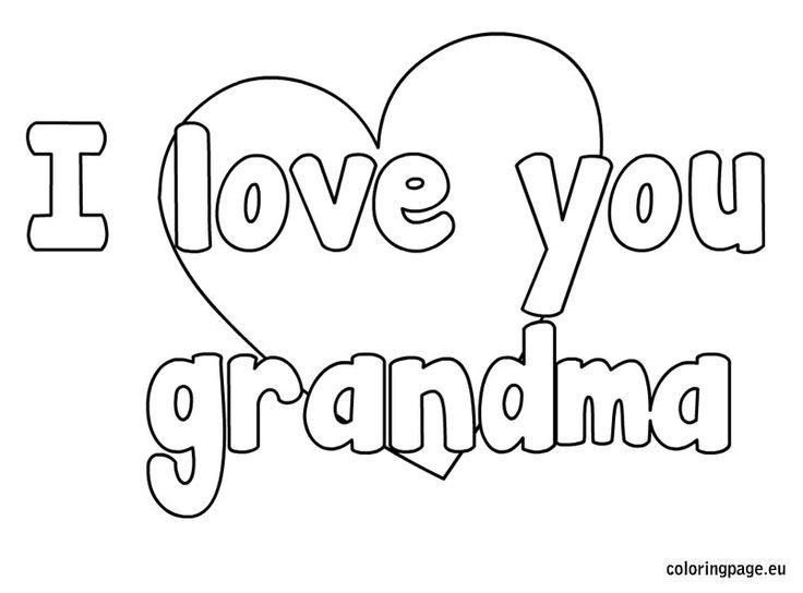 Happy Birthday Grandma Coloring Page - Coloring Home