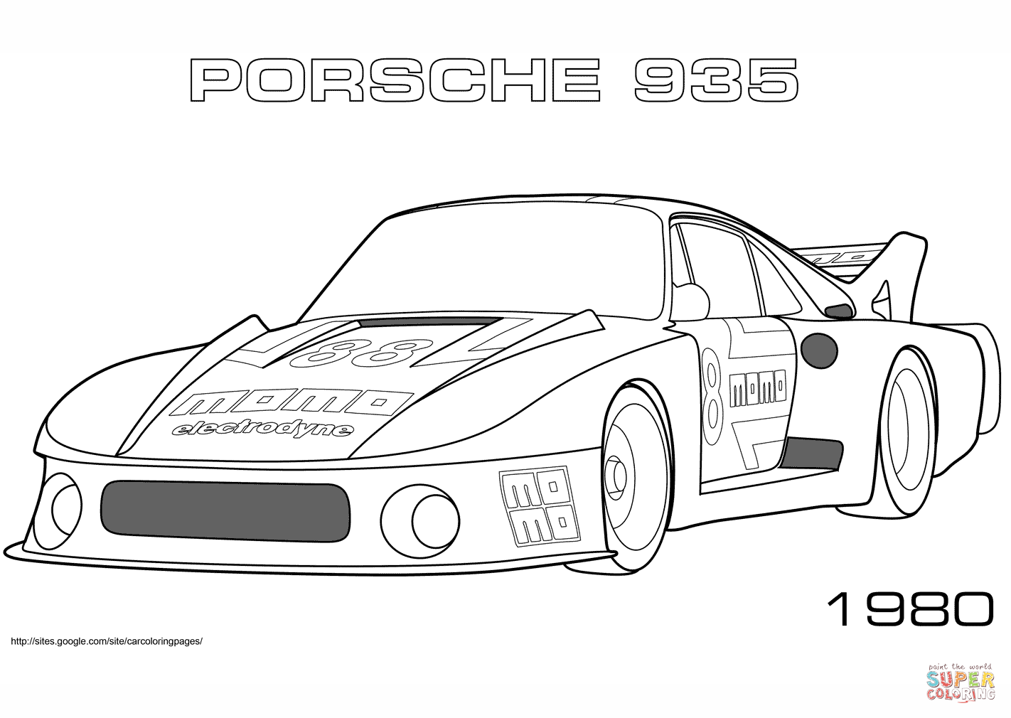 Fabuleux Coloring Pages Porsche - Coloring Home WR13