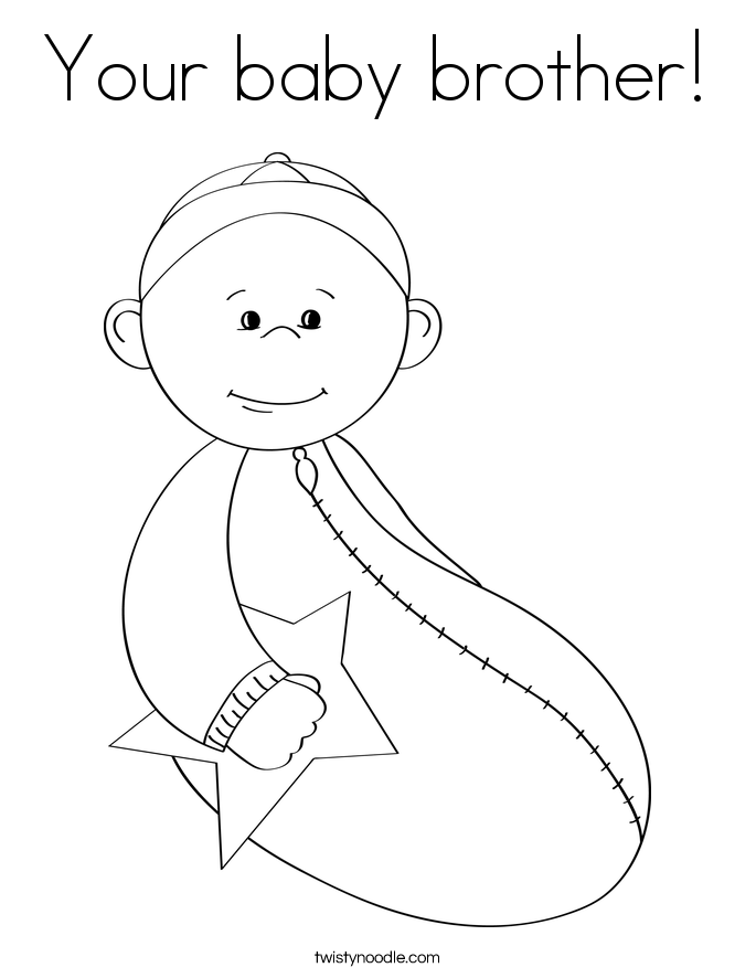New Baby Brother Coloring Page Az Coloring Pages New Baby Coloring Pages