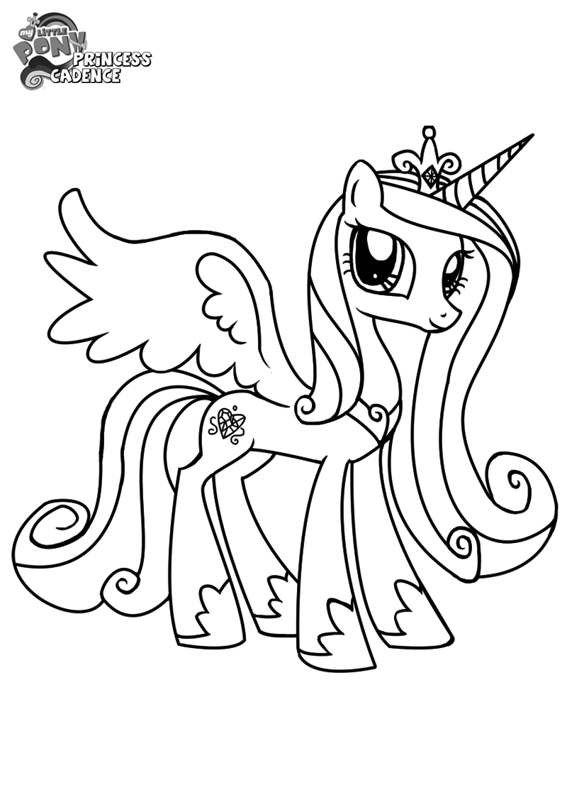 My Little Pony Coloring Pages Princess Cadence Wedding Coloring Home