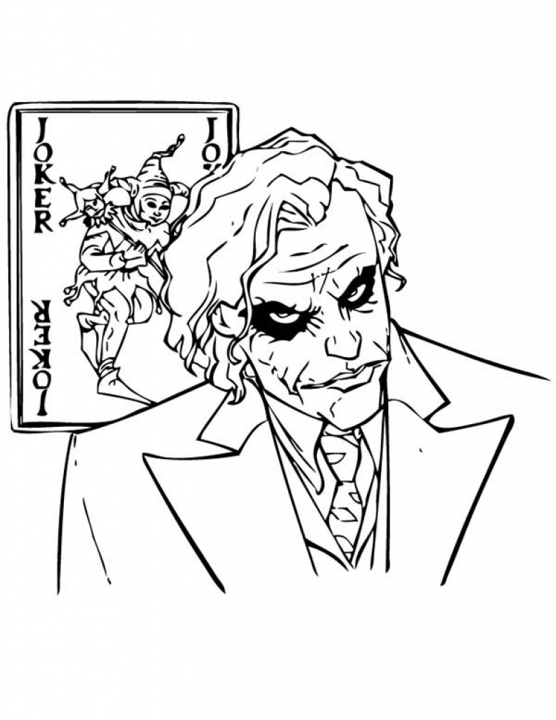 Joker Coloring Pages - Coloring Home