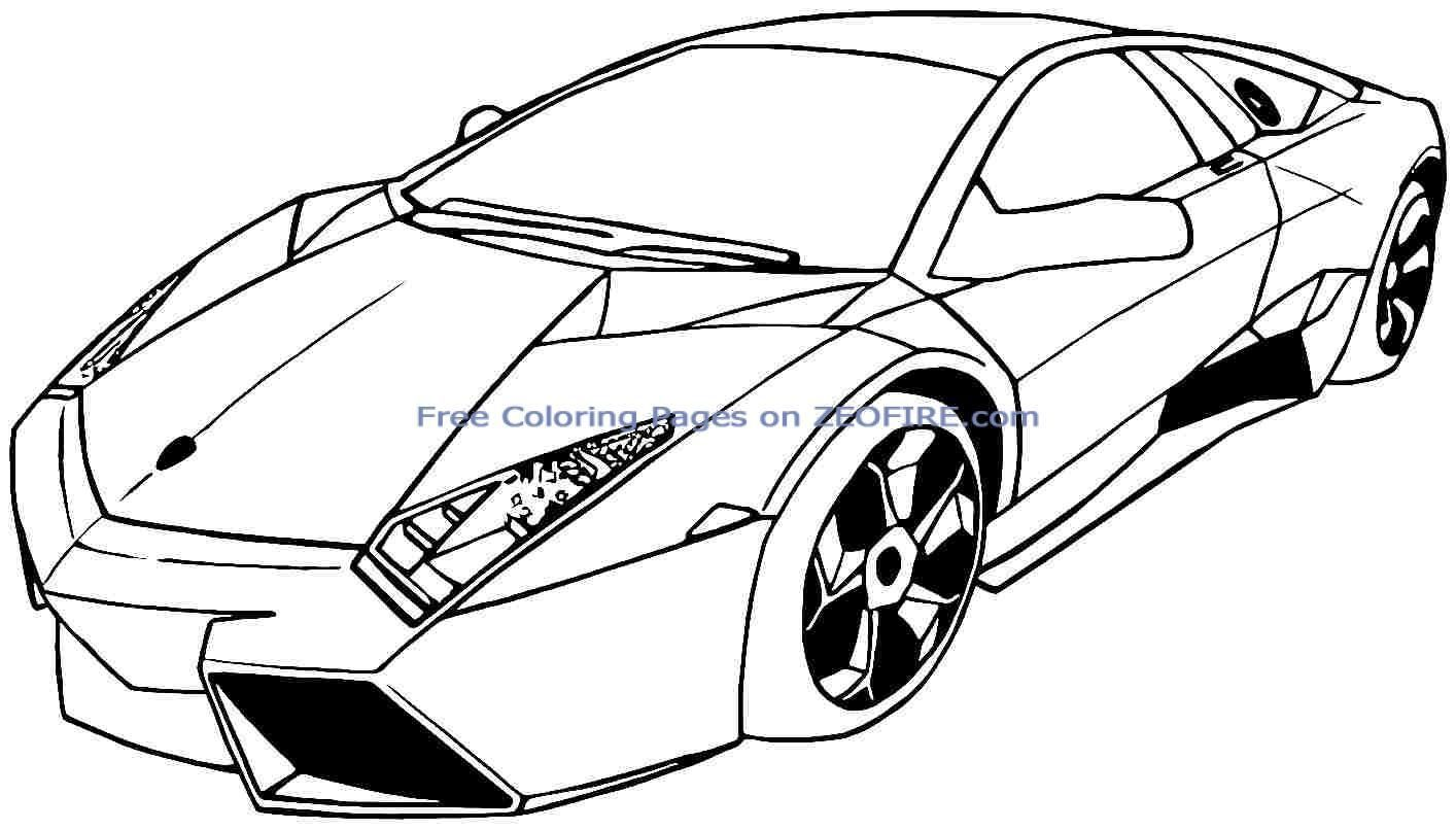 Race Car Coloring Pages Free - Coloring Home