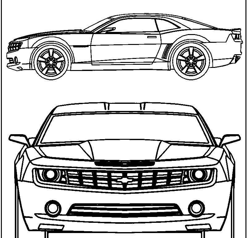camaro coloring pages - photo#14