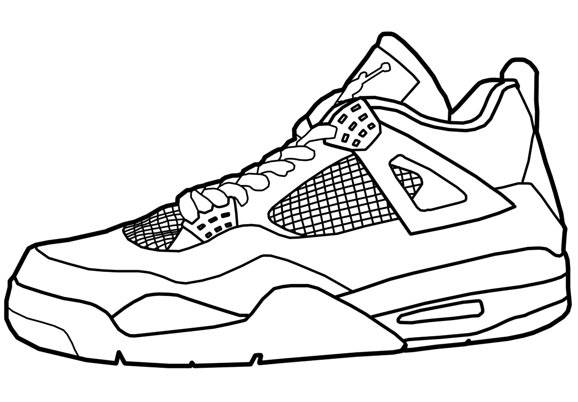 Sneakers Coloring Pages - Coloring Home