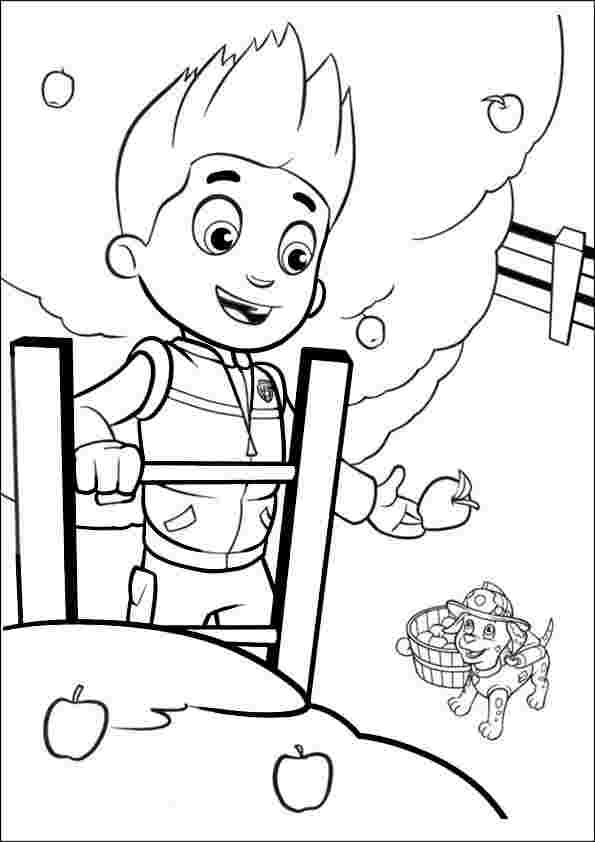 paw patrol ryder and chase coloring pages paw patrol chase and ...