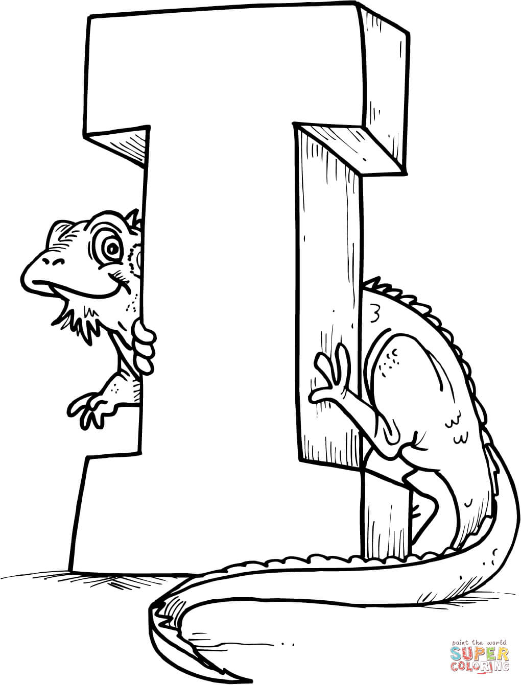Letter I Coloring Pages - Coloring Home