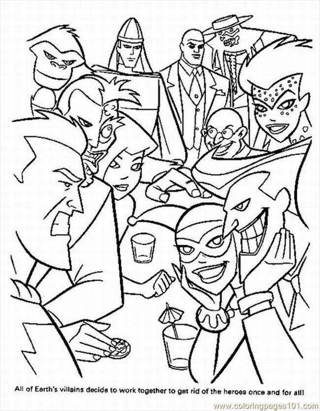 Super Hero Squad Coloring Pages For Kids - Ccoloringsheets.com