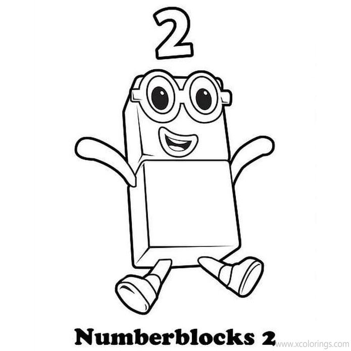 Numberblocks Coloring Pages Number Two - XColorings.com