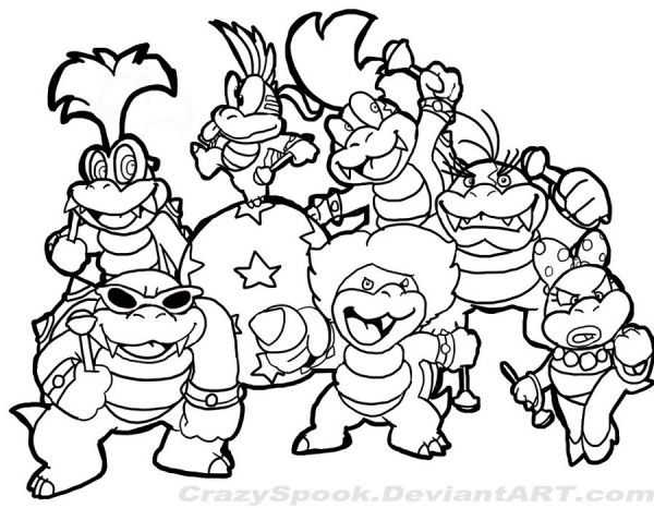 Super Mario Koopaling tzKEu - Coloring Pages For Kids | Super mario coloring  pages, Mario coloring pages, Cartoon coloring pages
