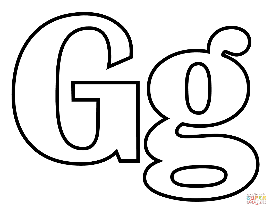 Letter G Coloring Page Free Printable Coloring Pages Coloring Home