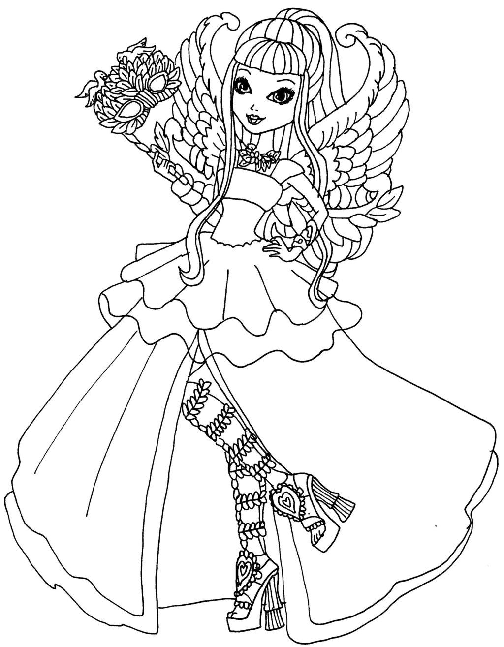 Ever after high coloring pages coloring home for Ever after coloring pages
