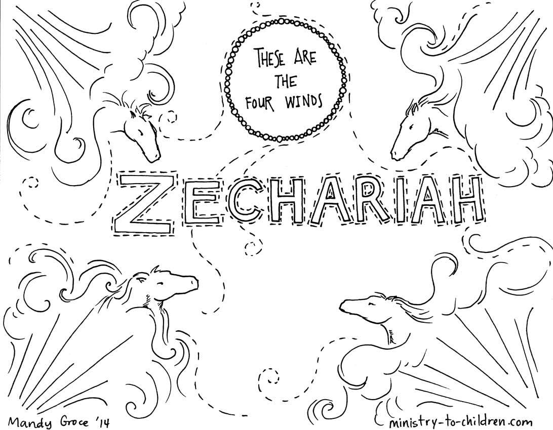 Zechariah Coloring Page Coloring