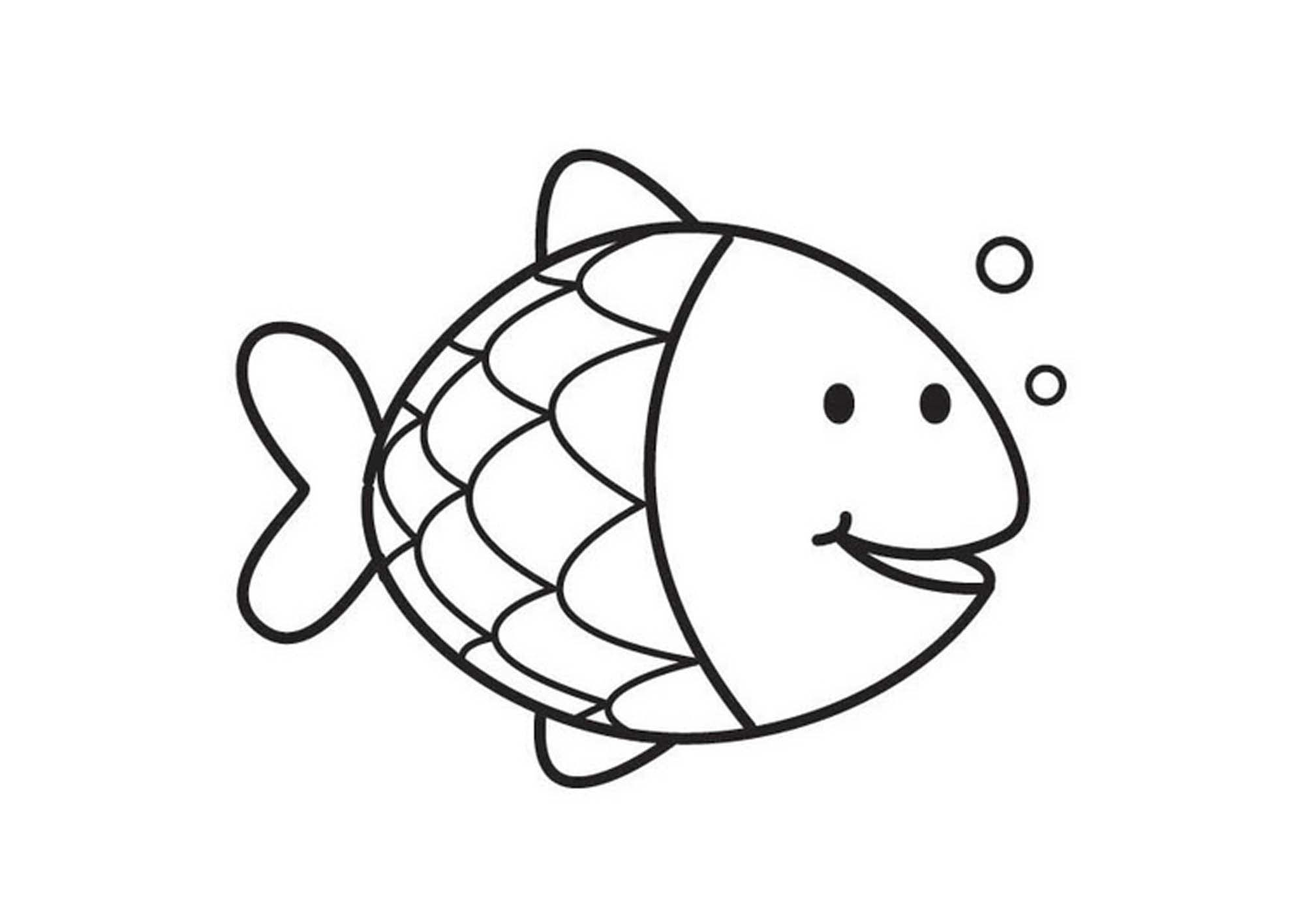 Adult Cute Fishes Coloring Pages Images best fish coloring page big pages gallery images