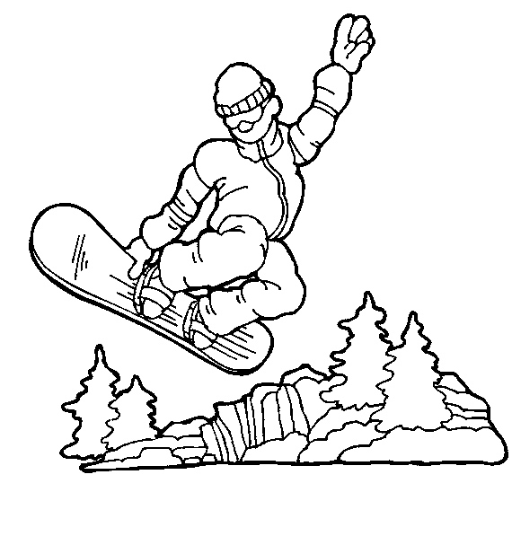 Best Sports Coloring Pages: Snowboarding Coloring Pages